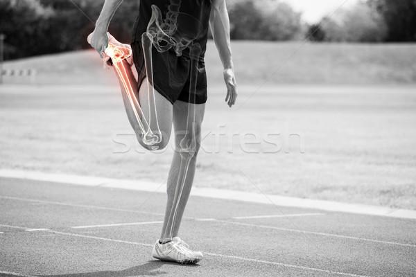 Kości sportowiec człowiek digital composite Zdjęcia stock © wavebreak_media