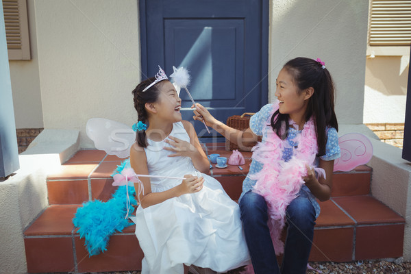 Siblings having fun in fairy costume Stock photo © wavebreak_media