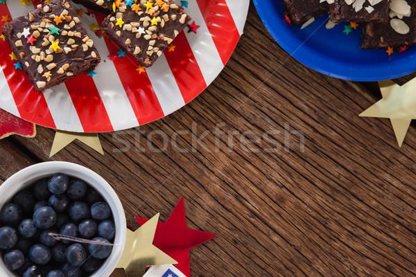 Zoete houten tafel vruchten Stockfoto © wavebreak_media