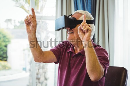Female designer using virtual reality headset Stock photo © wavebreak_media