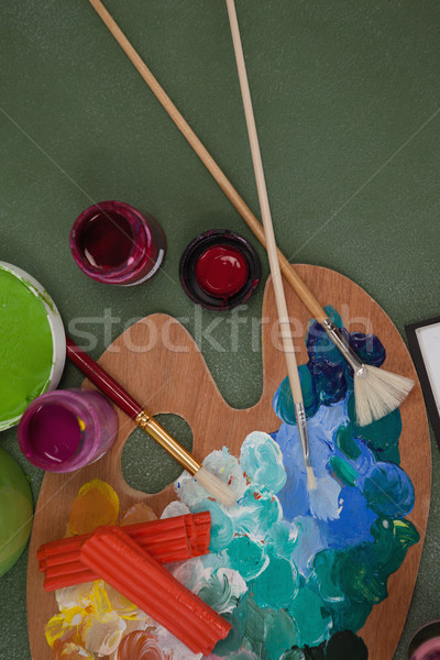 акварель кисти доске мнение окна искусства Сток-фото © wavebreak_media