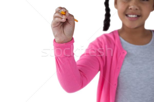 Lány ír láthatatlan képernyő középső rész gyermek Stock fotó © wavebreak_media