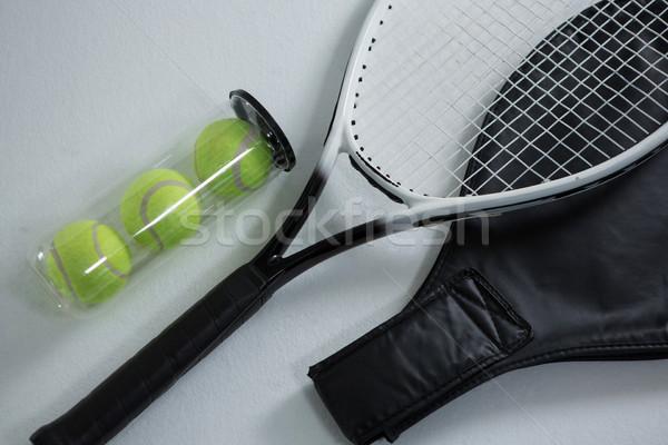 View racchetta da tennis contenitore bianco Foto d'archivio © wavebreak_media