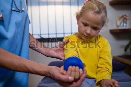 Fizioterápia lány kórház gyermek masszázs törődés Stock fotó © wavebreak_media