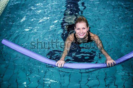 S'adapter femme aérobic mousse eau Photo stock © wavebreak_media