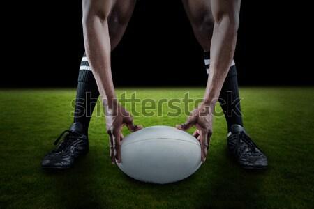 Football trophée médaille herbe artificielle football Photo stock © wavebreak_media