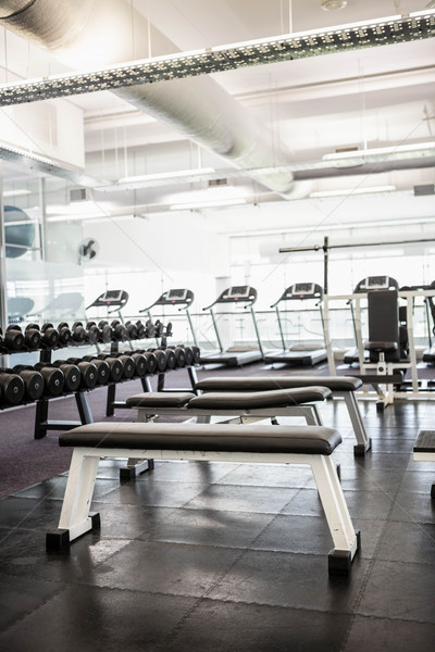 健身房 沒有人 室內 健身 健康 俱樂部 商業照片 © wavebreak_media