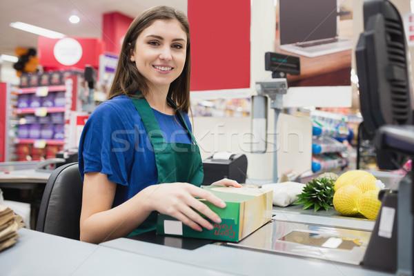 Portrait of woman cashier smiling  Stock photo © wavebreak_media