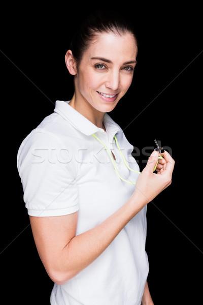 Femenino atleta silbar negro cuerpo Foto stock © wavebreak_media