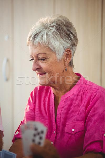 Side of a senior woman Stock photo © wavebreak_media