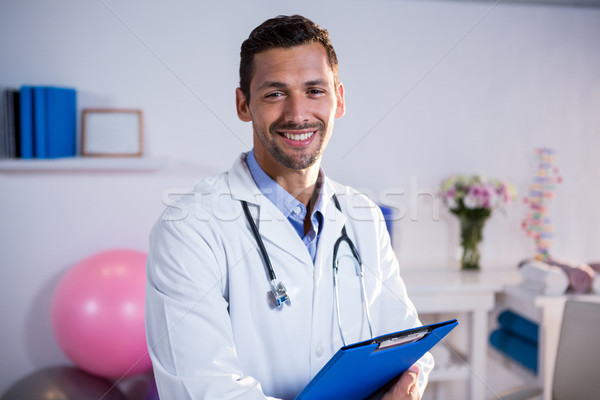 буфер обмена портрет клинике человека счастливым Сток-фото © wavebreak_media
