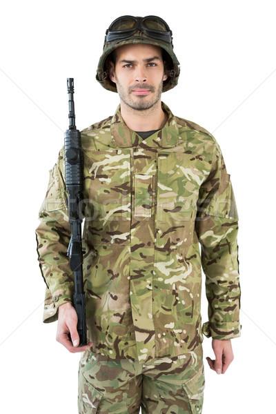 Portre asker beyaz adam Stok fotoğraf © wavebreak_media