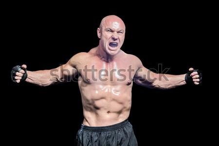 Боксер позируют победу возбужденный черный спорт Сток-фото © wavebreak_media