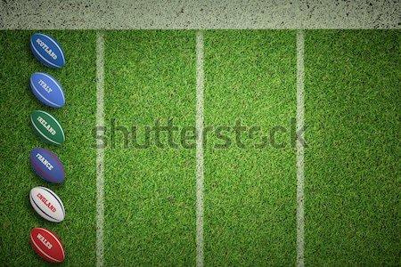 Futball Svájc színek közelkép kilátás tőzeg Stock fotó © wavebreak_media
