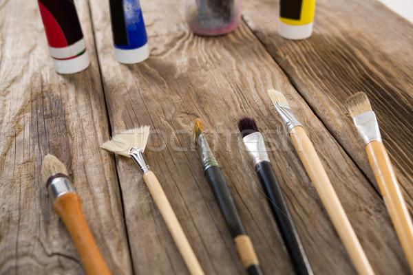 кисти акварель Трубы поверхность искусства Сток-фото © wavebreak_media