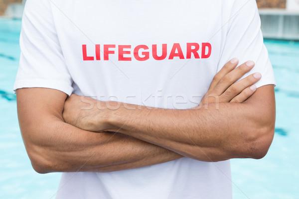 Ratownik stałego człowiek fitness Zdjęcia stock © wavebreak_media