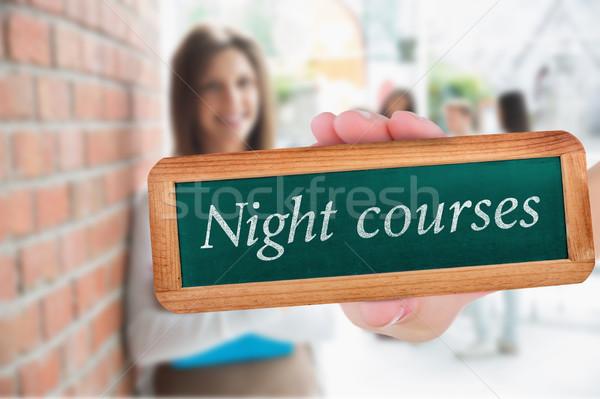 Noc dość student uśmiechnięty notatnika Zdjęcia stock © wavebreak_media