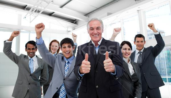успешный команда заседание портрет бизнеса Сток-фото © wavebreak_media