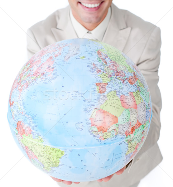 Close-up of a businessman holding a terrestrial globe  Stock photo © wavebreak_media