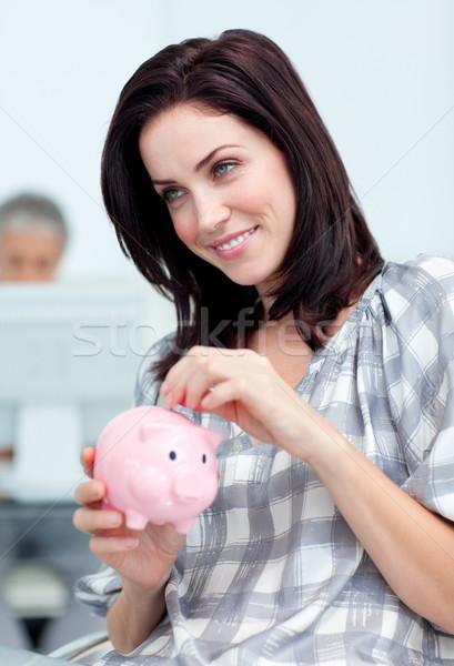 Işkadını para büro Stok fotoğraf © wavebreak_media