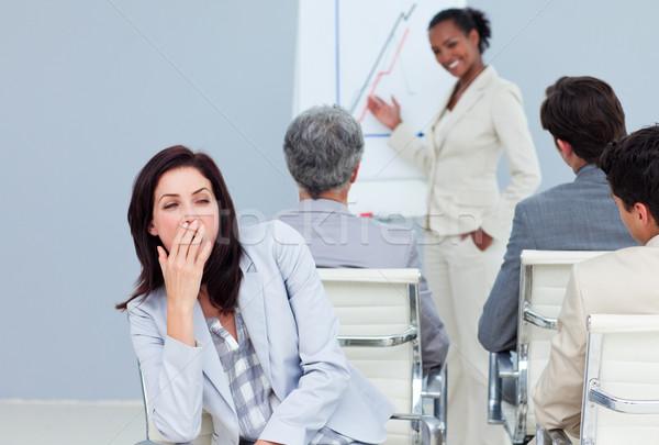 скучно деловая женщина презентация коллеги заседание работу Сток-фото © wavebreak_media