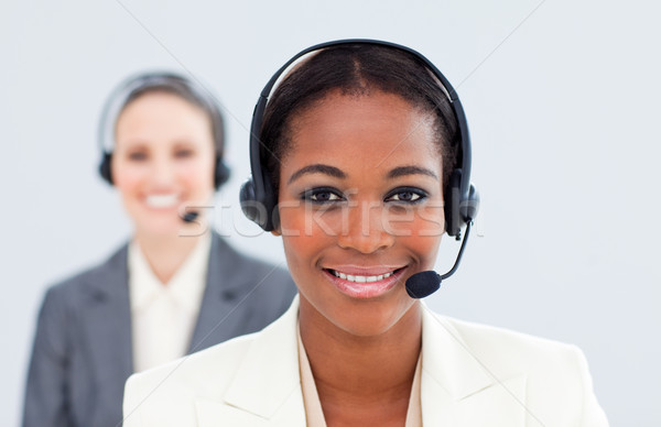民族 女性実業家 同僚 ヘッド コールセンター 電話 ストックフォト © wavebreak_media