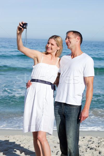 влюбленный пару фотографии пляж человека Сток-фото © wavebreak_media