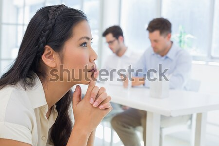 Self-assured businessman in a meeting Stock photo © wavebreak_media