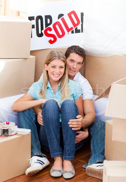 íntimo Pareja mover casa mujer Foto stock © wavebreak_media