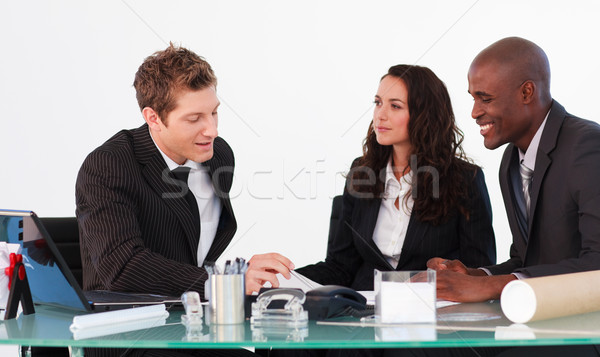 Three business people interacting in a meeting Stock photo © wavebreak_media