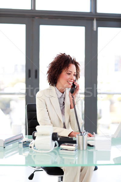 Young Businesswoman on the phone Stock photo © wavebreak_media
