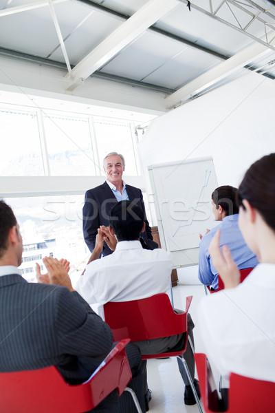 ストックフォト: ビジネスの方々 · 拍手 · スピーカー · 会議 · ビジネス · 会議