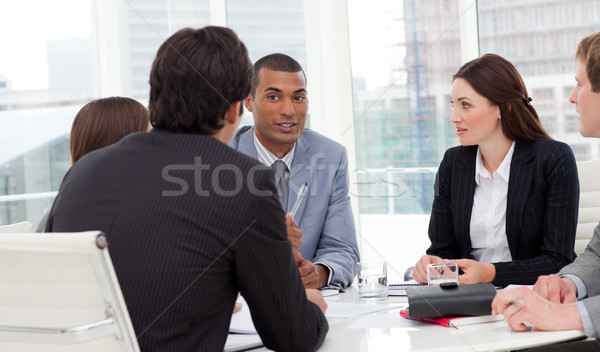 Ambicioso reunião companhia homem financiar Foto stock © wavebreak_media