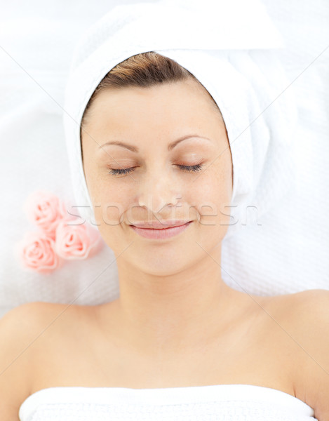 Dreaming woman having a massage in a spa  Stock photo © wavebreak_media