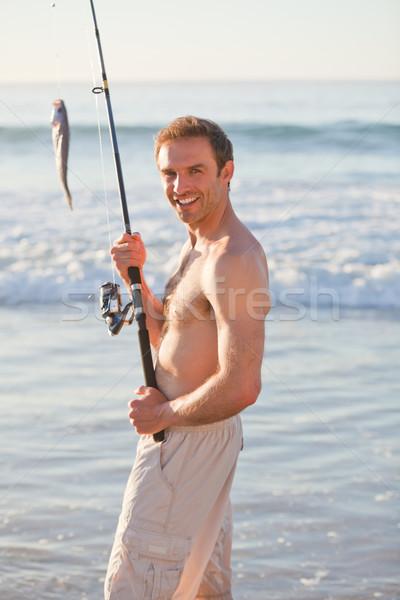 активный человека рыбалки природы морем океана Сток-фото © wavebreak_media