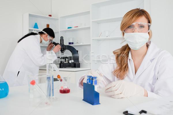 Női tudós kísérlet labor nő egészség Stock fotó © wavebreak_media