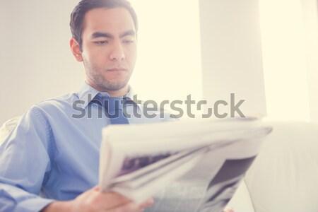 Foto stock: Jóvenes · empresario · mirando · cansado · negocios · ordenador