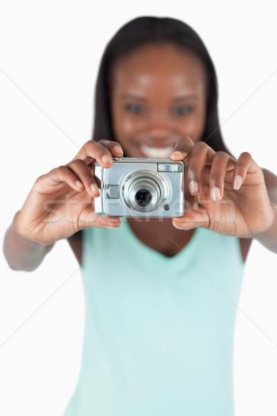 カメラ 中古 写真 笑みを浮かべて 若い女性 ストックフォト © wavebreak_media