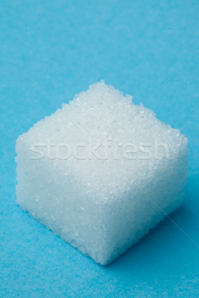 Sugar against a blue background Stock photo © wavebreak_media