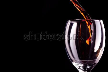 Tele méz kanál fekete narancs édes Stock fotó © wavebreak_media
