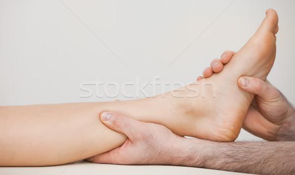 Caviglia paziente medici stanza care Foto d'archivio © wavebreak_media
