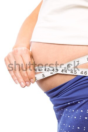 Close-up midsection of woman measuring waist Stock photo © wavebreak_media