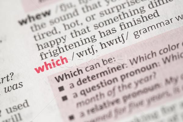 Definizione nero questione concetto conoscenza parole Foto d'archivio © wavebreak_media