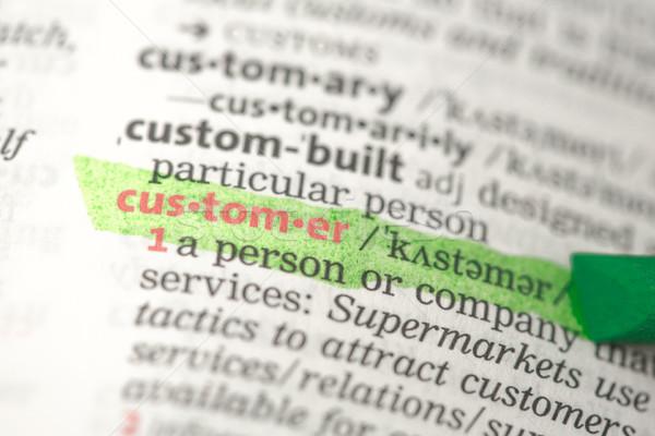 Cliente definizione verde dizionario informazioni studiare Foto d'archivio © wavebreak_media
