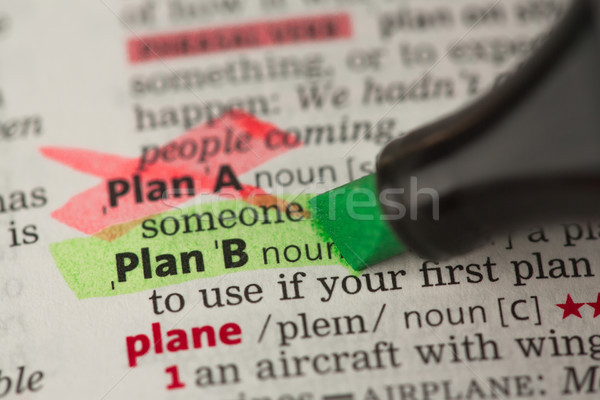 Plano b definição verde plano negócio Foto stock © wavebreak_media