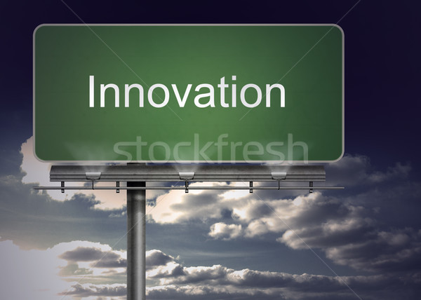 Signpost with innovation  Stock photo © wavebreak_media