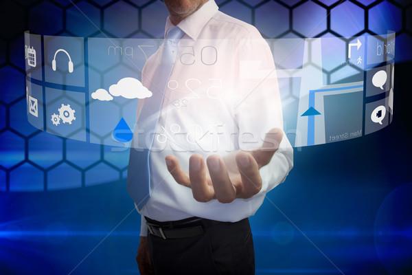 Empresário interface composição digital negócio mão Foto stock © wavebreak_media