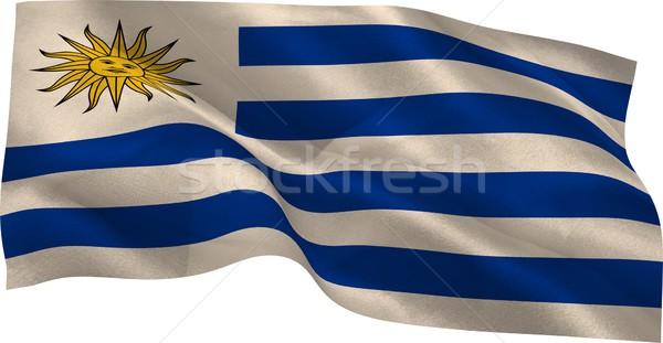 Cyfrowo wygenerowany Urugwaj banderą biały Zdjęcia stock © wavebreak_media