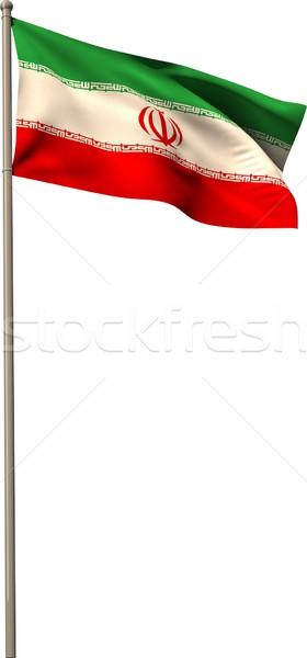 генерируется Иран флаг белый Сток-фото © wavebreak_media