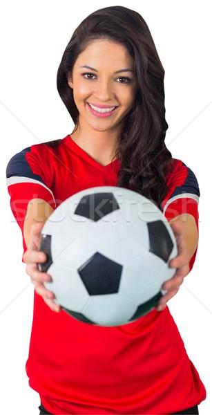 Bastante fútbol ventilador rojo blanco fútbol Foto stock © wavebreak_media